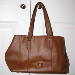 Ralph Lauren Brown Leather Tote Purse